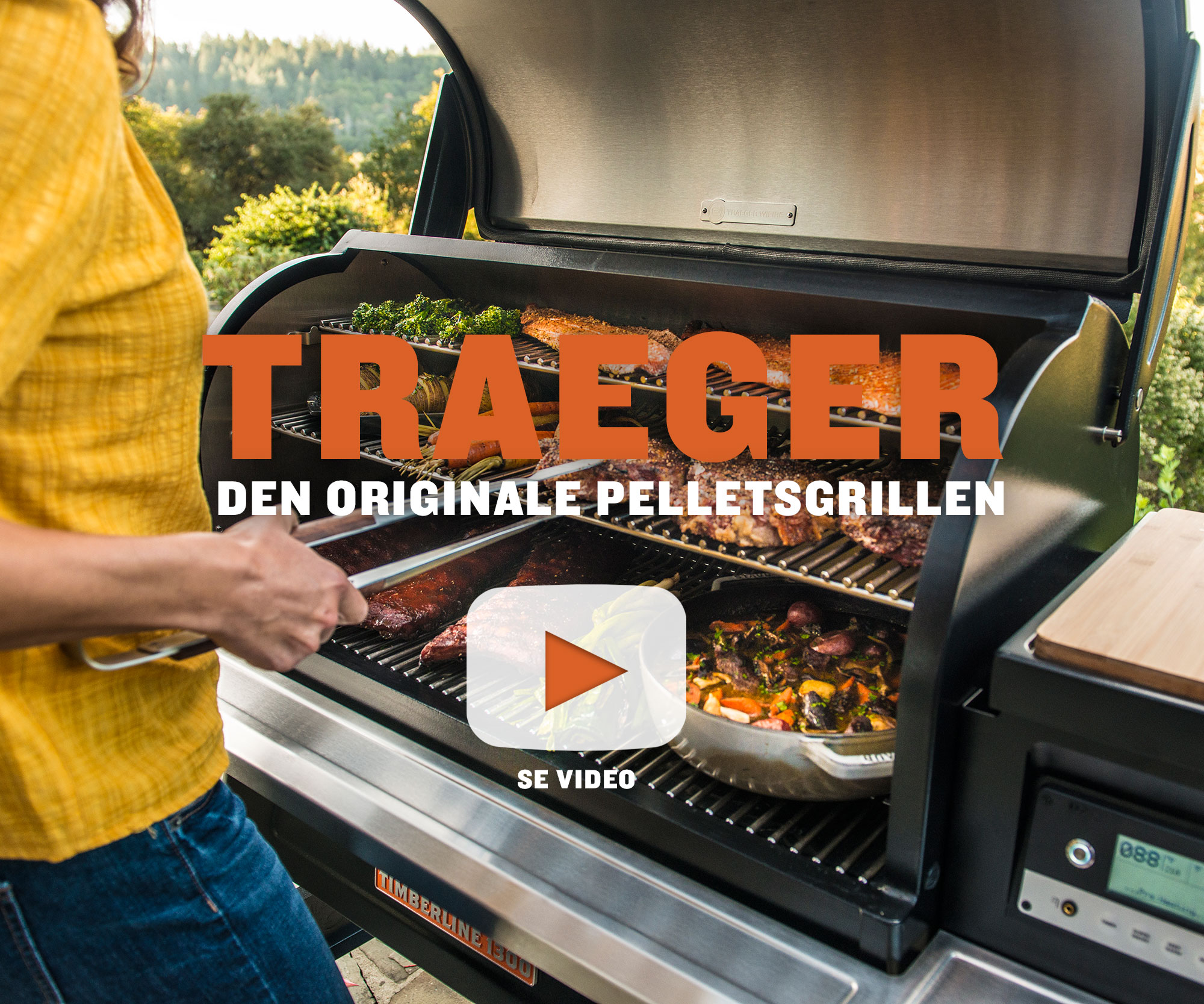 Se video - Traeger den originale 6 in 1 pelletsgrillen